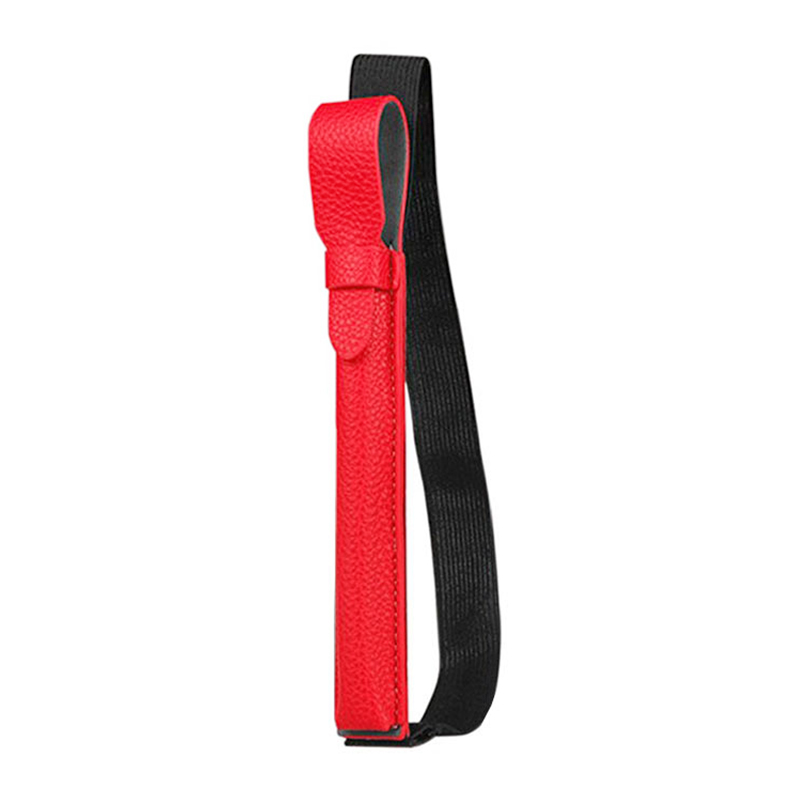 Stylus Elastic Strap PU Case Pouch Cover Sleeve Holder Holster with USB Adapter Pocket for Apple Pencil - Red
