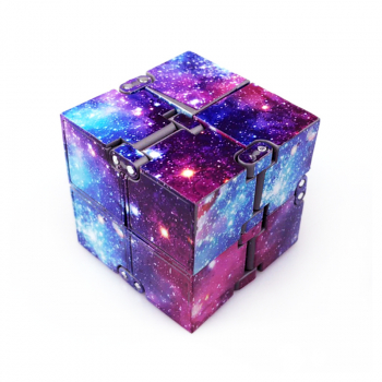 Sensory Infinity Cube Stress Fidget products for Autism Anxiety Relief - Starry Sky