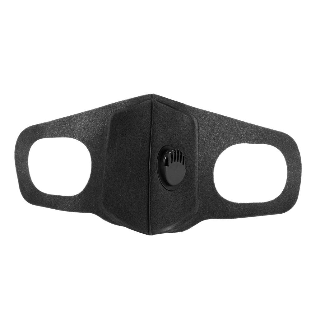 New Washable Valved Dust Mask Respirator Reusable Face Mask - Black