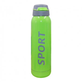500ML Portable Travel Bounce Switch Water Flask Stainless Steel Vacuum Insulated Water Bottle - Green