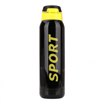 500ML Portable Travel Bounce Switch Water Flask Stainless Steel Vacuum Insulated Water Bottle - Black