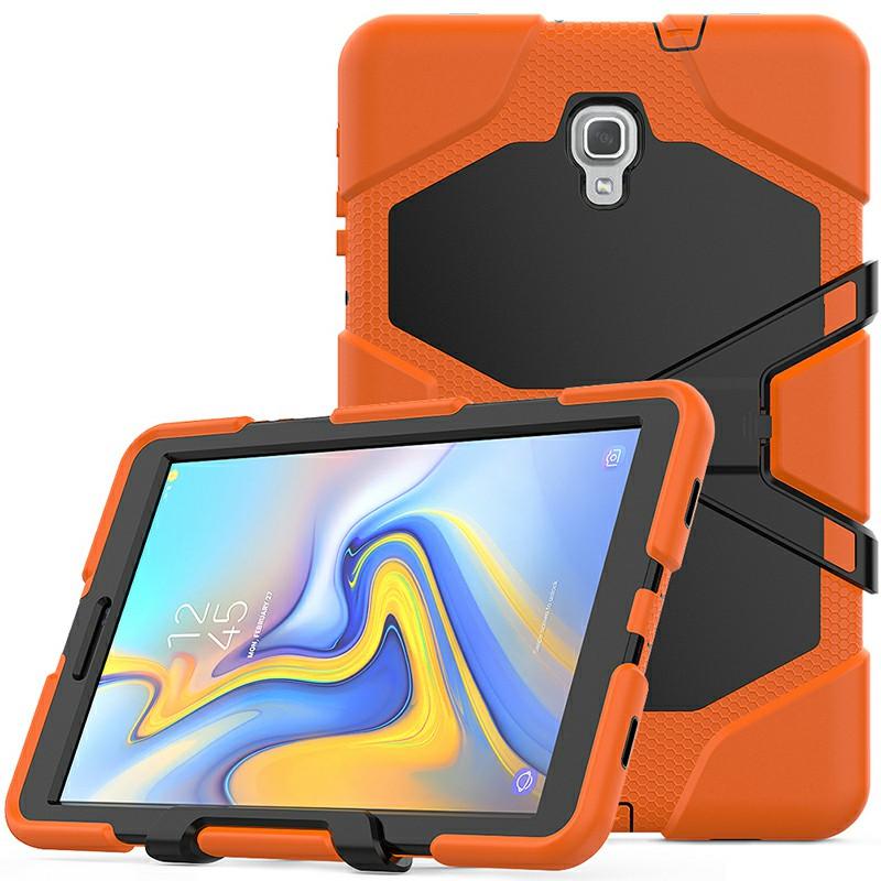 Heavy Duty Hybrid Silicone Bumper PC Full Cover Protective Case for Samsung Galaxy Tab A 10.5 Inch - Orange