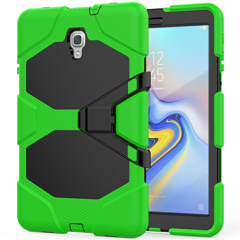 Heavy Duty Hybrid Silicone Bumper PC Full Cover Protective Case for Samsung Galaxy Tab A 10.5 Inch - Green