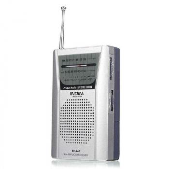 BC-R60 Pocket Portable Radio Telescopic Antenna Mini AM/FM 2-Band Radio World Receiver