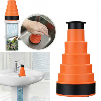 Manual Clog Cannon Bath Kitchen Sink Gear Plunger Basin Drain Sinks Pipe Cleaner