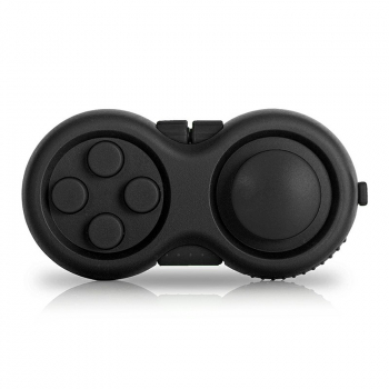 Game Controller Gamepad Shape Fidget Pad Anxiety Stress Relief Fidget product - Black