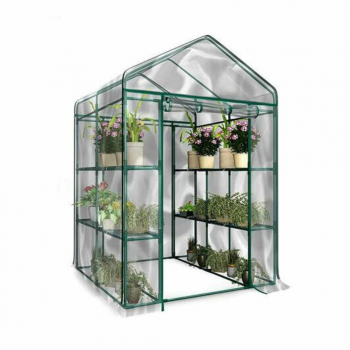Heritage Garden PVC Greenhouses Cover 4-Tier Shelter House Grow Bag - 143x143x195cm(Only Cover No Shelf)
