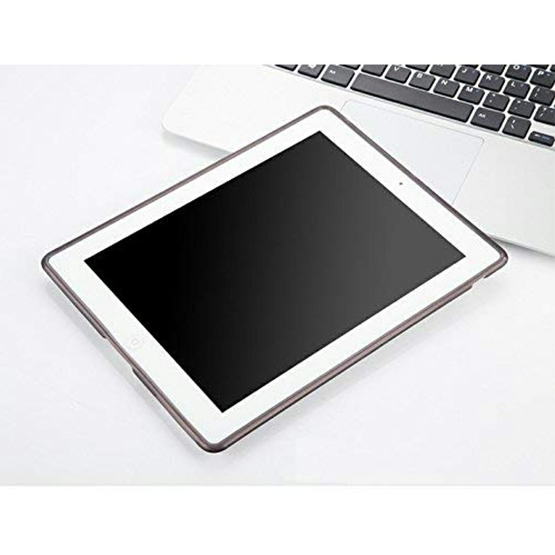 Slim Enviromental Tablet Back Cover Protection Clear TPU Flexible Case for iPad 2/3/4 - Black