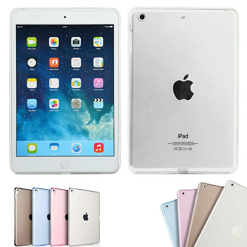 Simple Clear TPU Soft Tablet Case Protective Back Cover for iPad Mini 1 / 2 / 3 - Clear