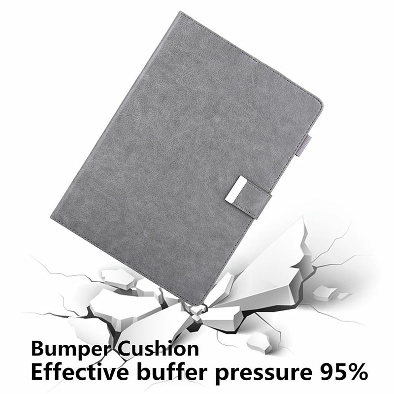 iPad Flip Stand PU Leather Case Multiple Viewing with Stylus Pen Holder Card Slot for iPad Mini 1/2/3/4/5 - Grey