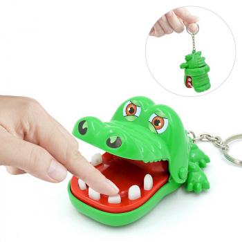 Crocodile Biting Finger Dentist Games Funny product Keychain Key Chain Key Ring