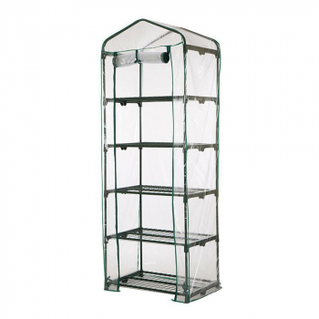 Greenhouse Grow Bag Walk In Grow Bag Transparent PVC Plastic Cover Garden Tools - 5 Tier(Only Cover No Shelf)