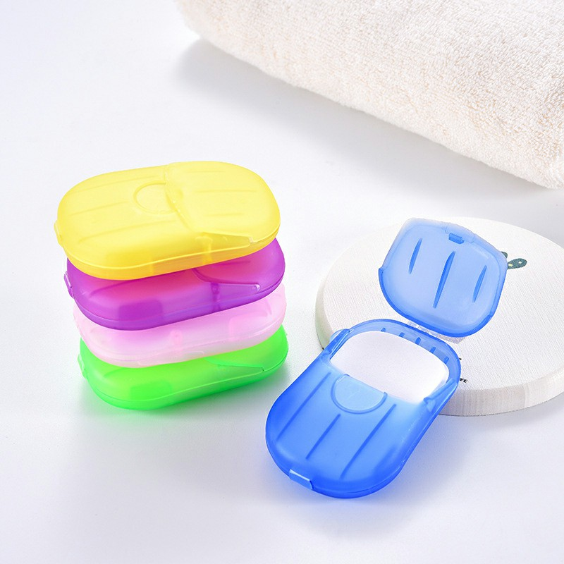 100 pieces Portable Soap Flakes Washing Hand Paper Foaming Slice Sheets Scented for Travel Home