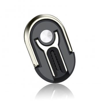 Car Phone Holder Snap-in Ring Buckle Universal 360 Degree Rotating for Air Outlet - Black