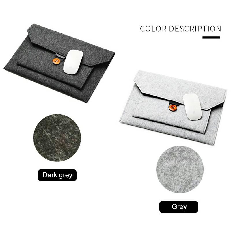 12 Inch MacBook Pro/iPad Sleeve Felt Laptop Protective Case - Dark Grey
