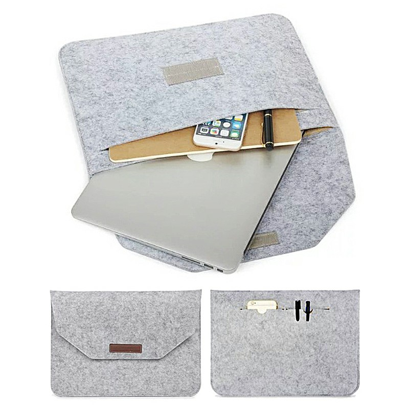 15.4 Inch Sleeve Felt Laptop Protective Case for MacBook Pro and iPad