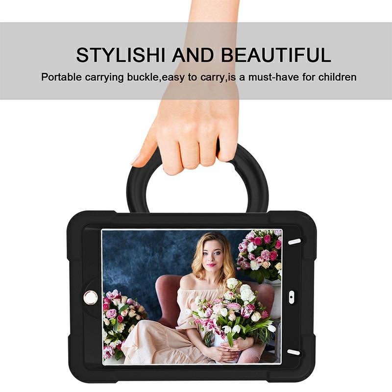 Waterproof Silicon Protective Back Case for iPad Mini 4/5 - Black