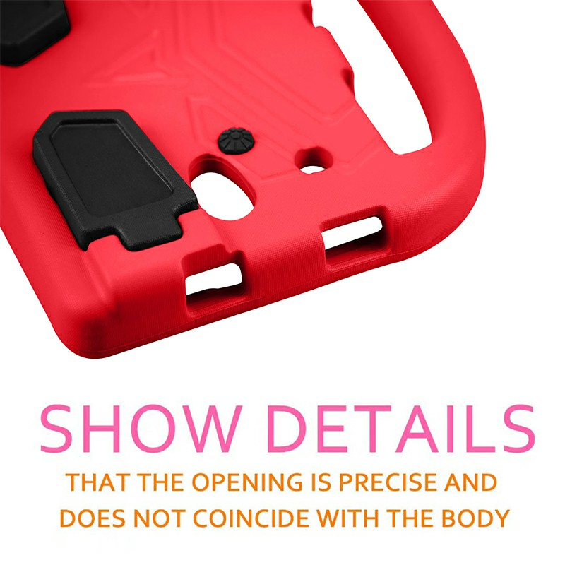 Shakeproof EVA Foam Stand Case Cover for Samsung Universal Tablet 8 inch - Red