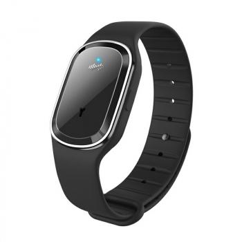 M1 Smart Repellent Bracelet Ultrasonic Physical Mosquito Repellent Wristband - Black