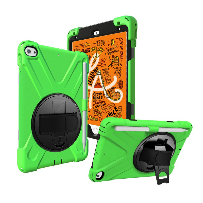 Waterproof Silicone Protective Back Case for Apple iPad Mini 4/5 - Green