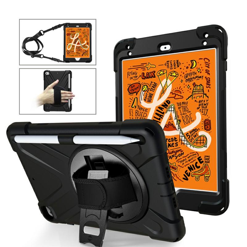 Waterproof Silicone Protective Back Case for Apple iPad Mini 4/5 - Black