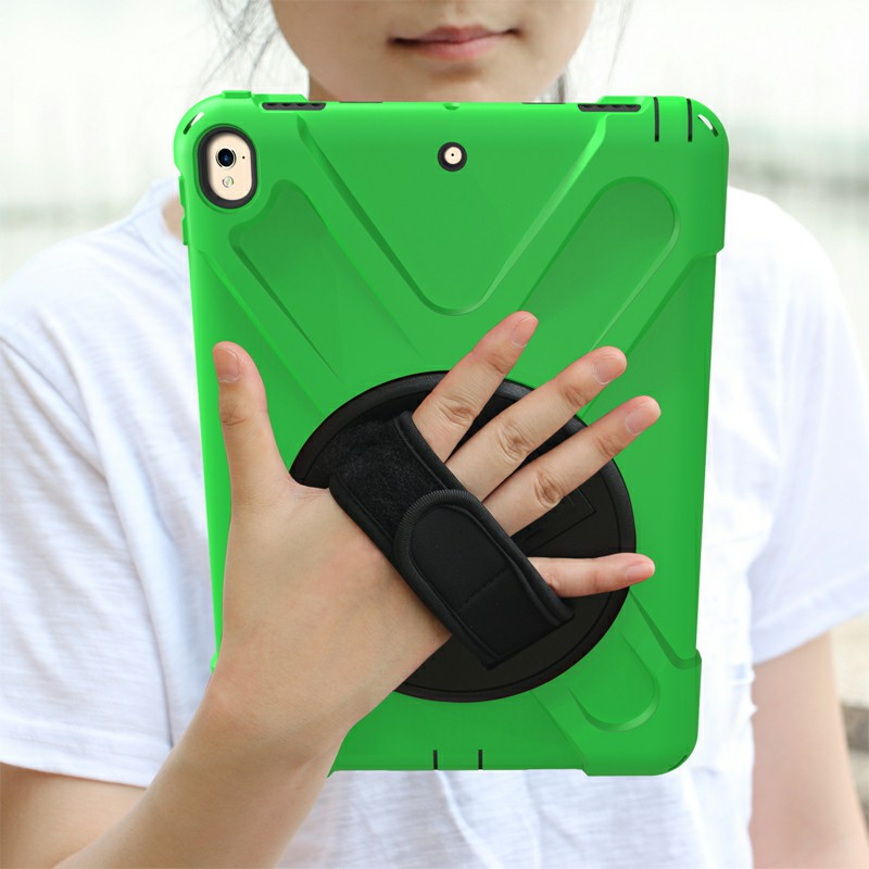 Heavy Duty Rugged PC Silicone Rotating Case for Apple iPad 10.5 - Green