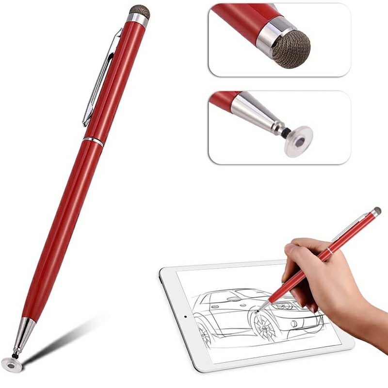 Universal Capacitive Touch Stylus Pen for iPad iPhone Tablet - Red