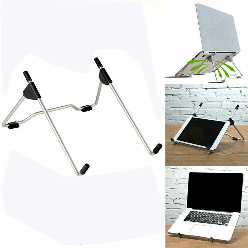 Adjustable Folding Holder Laptop Stand Support Holder - Black