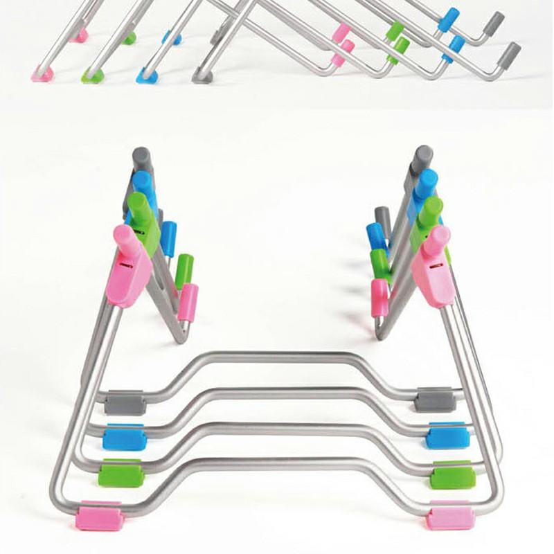 Adjustable Folding Holder Laptop Stand Support Holder - Pink