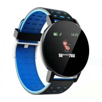 119plus Bluetooth Smart Watch Heart Rate Tracker Fitness Smartwatch - Blue