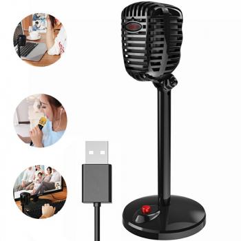 USB Conferencing Microphone High Sensitivity 360 degree Sound Pickup Desktop Conference Mic