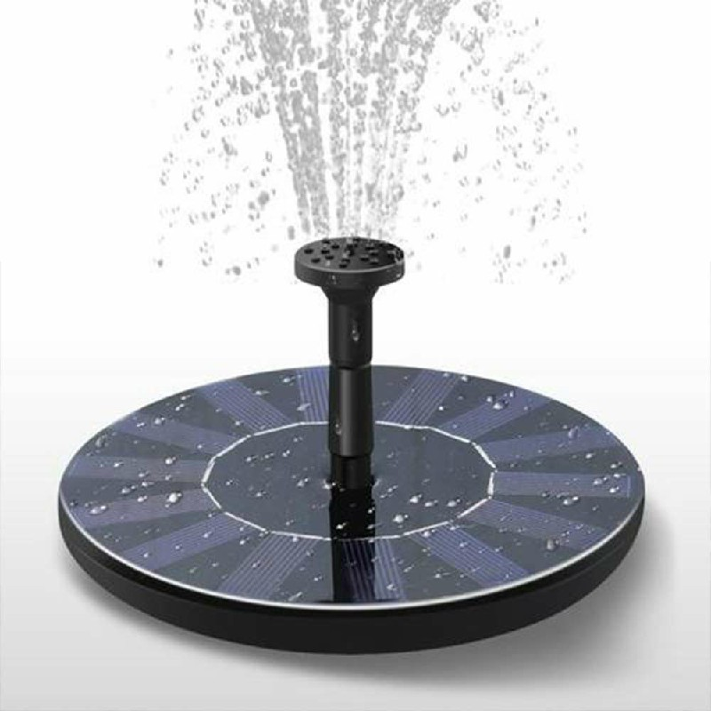 Solar Powered Floating Pump Water Fountain Birdbath Home Pool Garden Decor