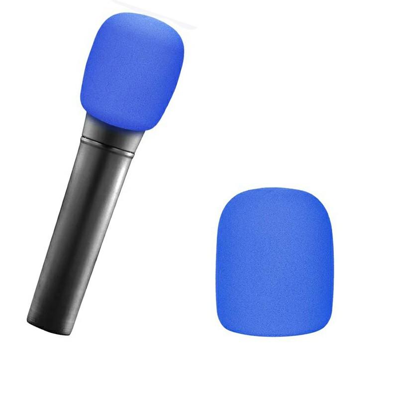 Pro vocalist Microphone Foam Cover Sponge Windshield Mic Shield - Blue