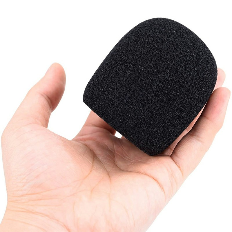 Pro vocalist Microphone Foam Cover Sponge Windshield Mic Shield - Black