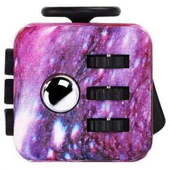 Fidget product Cube Decompression Cube Scorpion Anti-irritation Education product Gift - Starry Sky Purple