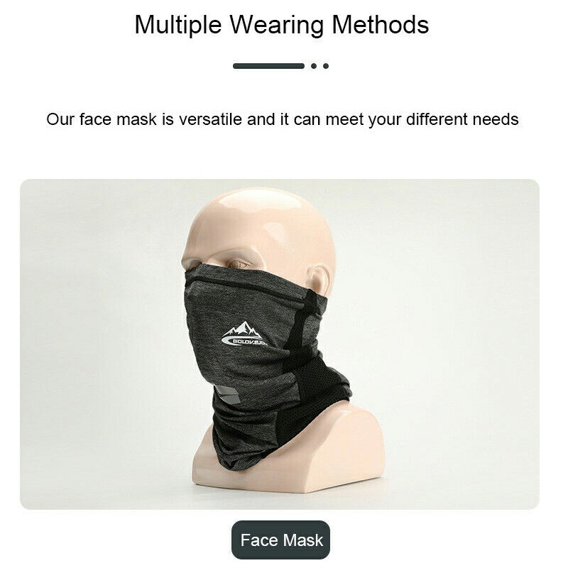 Details about  /Neck Gaiter Bandana Headband Cooling Face Scarf Shield Head Cover Snood Purple