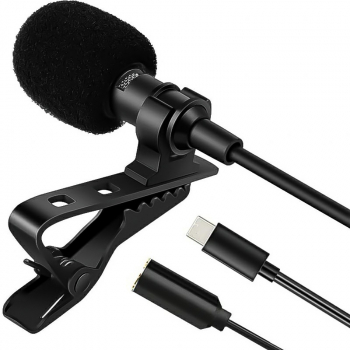 Type-C Lavalier Microphone for Outdoor Live Interview