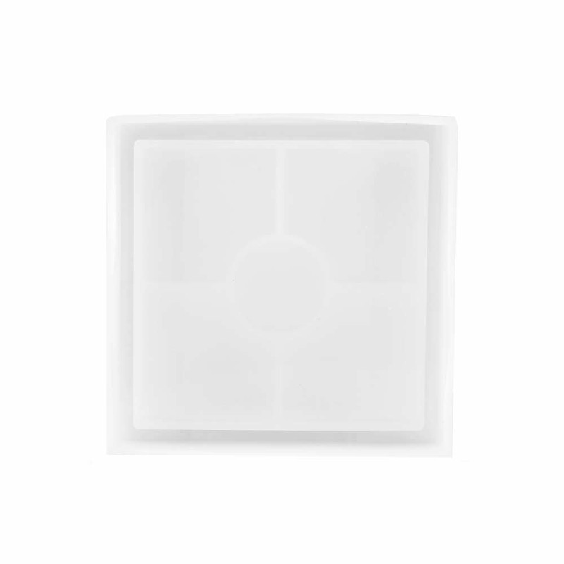Coaster Resin Casting Mold Silicone Jewelry Pendant Making Mould Craft - Square