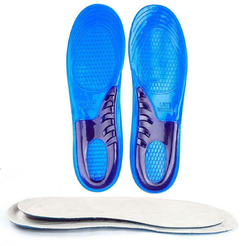 Work Boots Silicone insoles Shoe Inserts Orthotic Arch Support Pads Massaging Feet - L 8-12