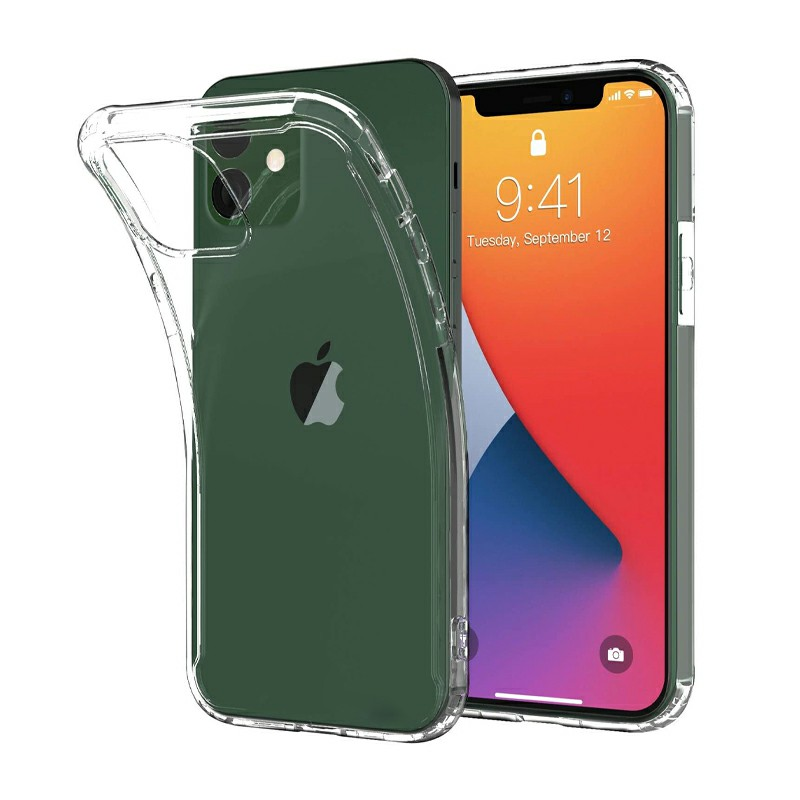 Soft Slim Silicone Protective Case TPU Rubber Back Cover for iPhone 12 - Clear