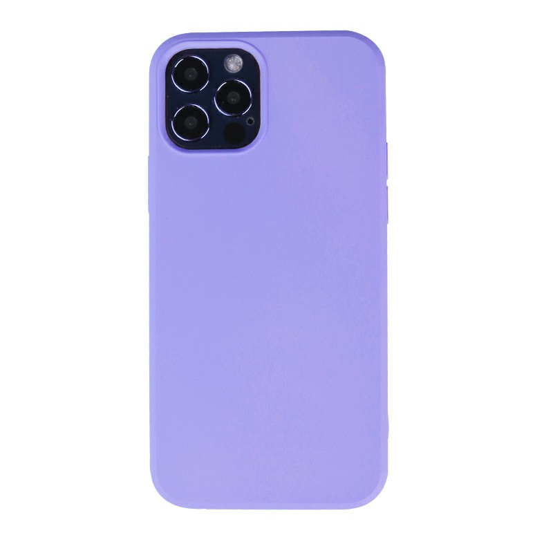 Liquid Silicone Gel Rubber Shockproof Cover Back Case for iPhone 12 Pro - Purple