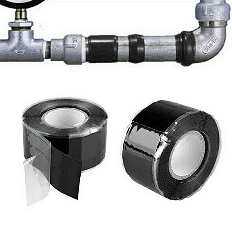 Magic Tape Silicone Seal Stop Leaks Adhesive Tape Waterproof Black - 2.5cmx3m