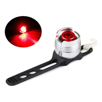 Bicycle LED Tail Light Flash Mode Waterproof Bright - Silver