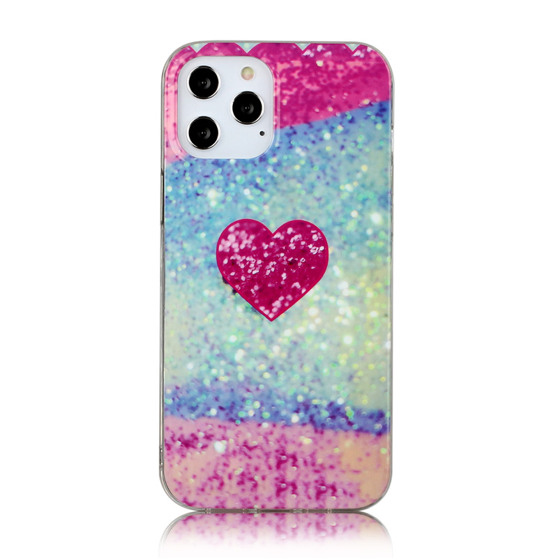 Shockproof Soft Silicone Rubber TPU Case for iPhone 12 Pro Max - Red Love