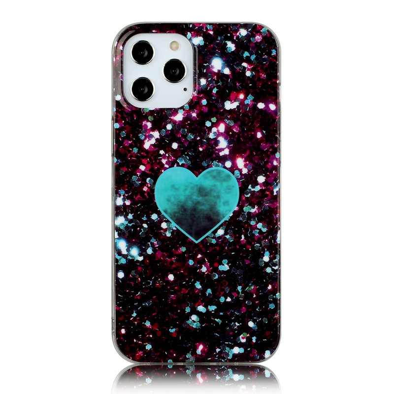 Shockproof Soft Silicone Rubber TPU Case for iPhone 12 Pro - Green Love