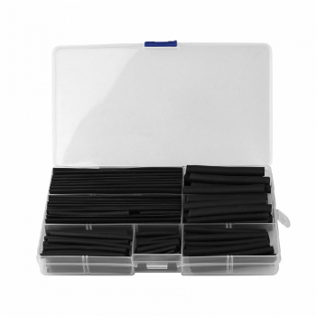 150 pcs Black Heat Shrink Wire Cable Tubing Tube Sleeving Sleeve Wrap