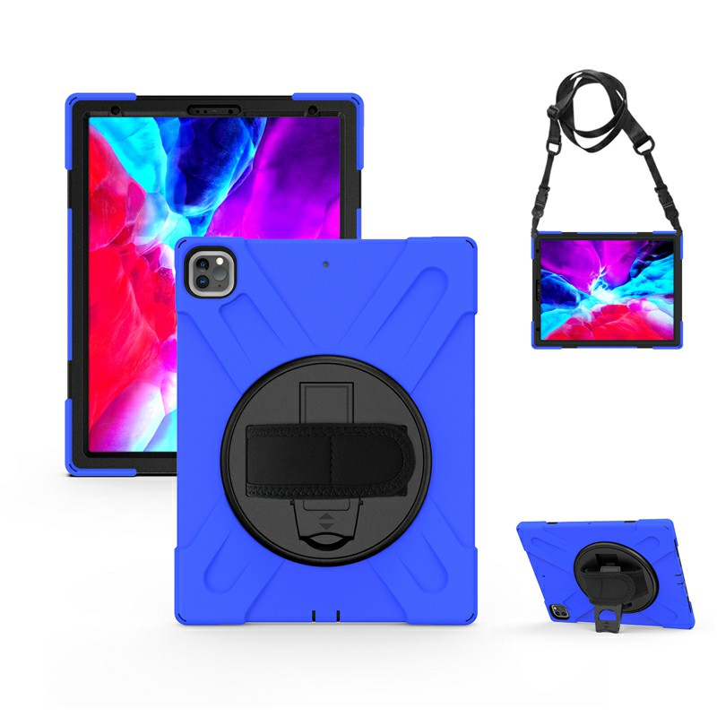 Shockproof Stand 360 Degree Rotation Back Cover Bags for iPad Pro 12.9 inch 2018/2020 - Blue