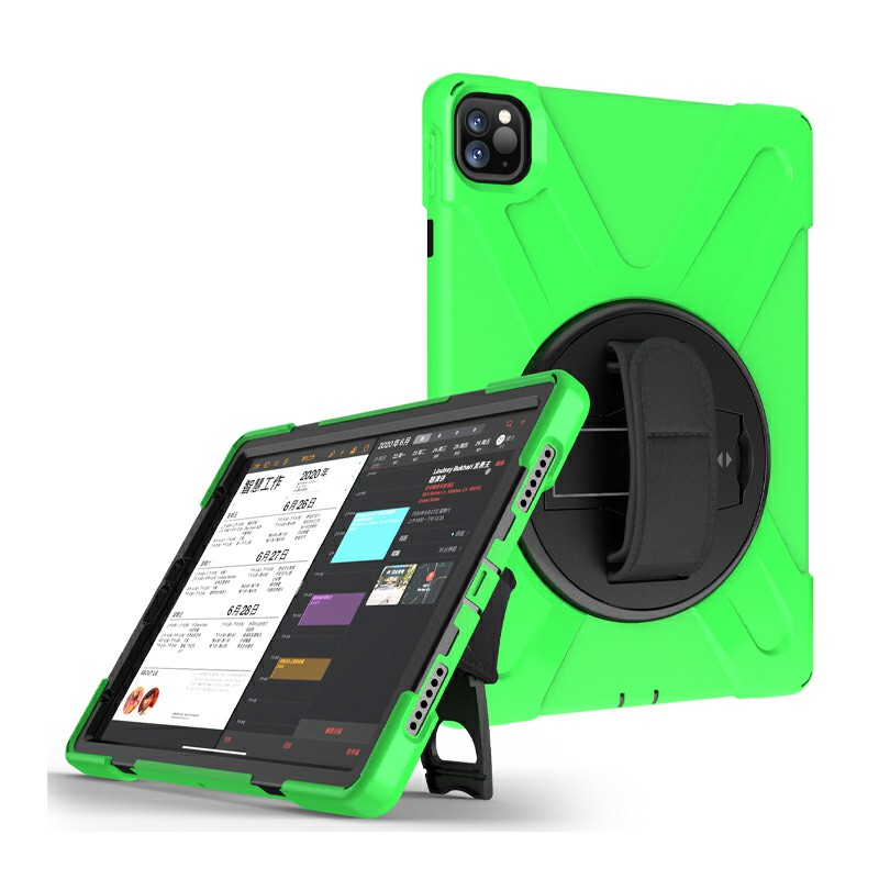 Heavy Duty Rugged PC Silicone Case for Apple iPad Pro 11 inch 2018/2020 - Green
