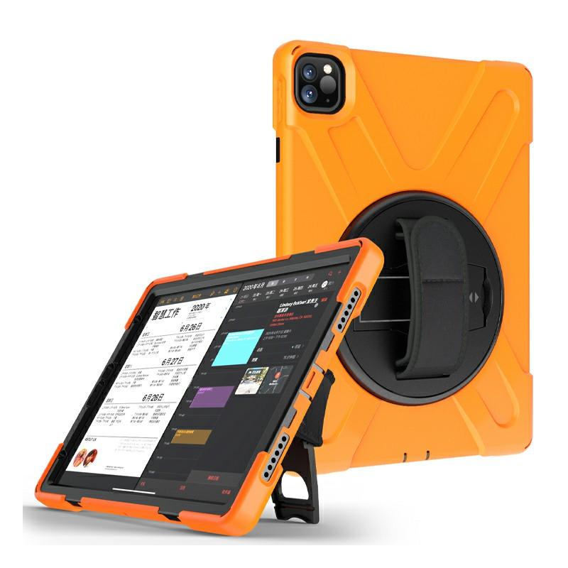Heavy Duty Rugged PC Silicone Case for Apple iPad Pro 11 inch 2018/2020 - Orange