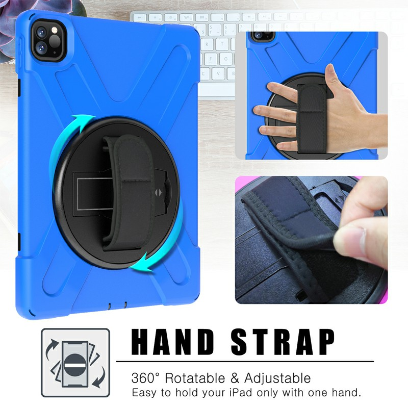 Heavy Duty Rugged PC Silicone Case for Apple iPad Pro 11 inch 2018/2020 - Blue